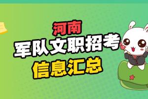 河南军队文职招聘考试信息