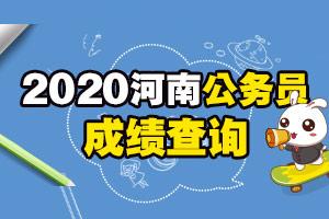 2019河南公务员考试成绩查询